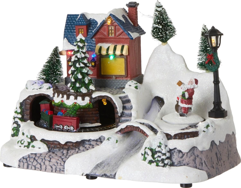 Winterlandschap met kerstman