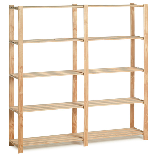 Woody rack heavy duty hout175 x 175 x 40 cm