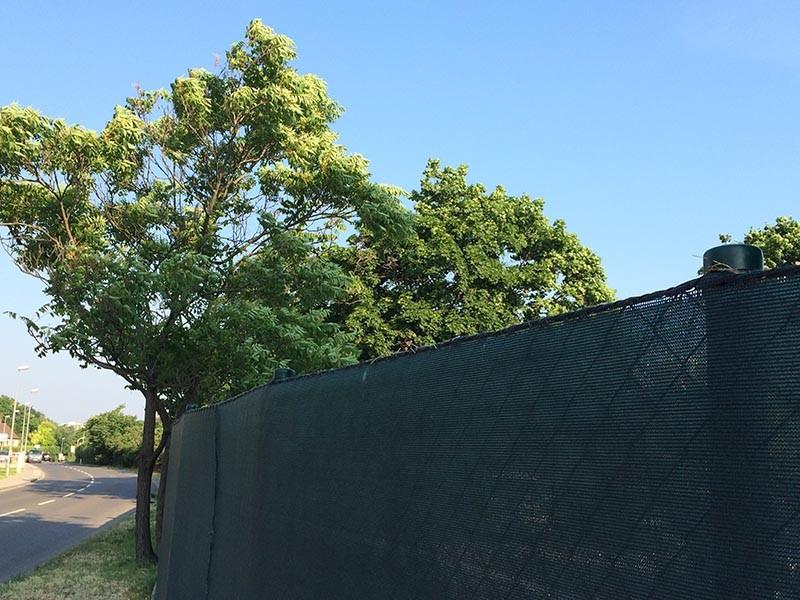 Zichtbreker windbreker 25 x 2 m zwart