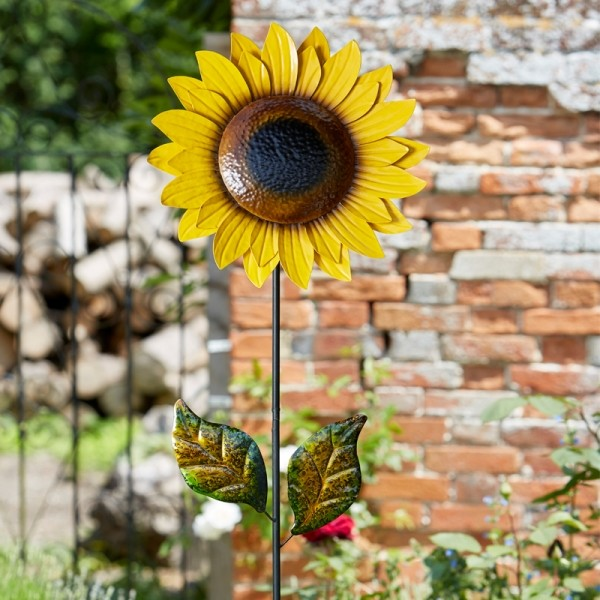 Zonnebloemdeco tuinprikker