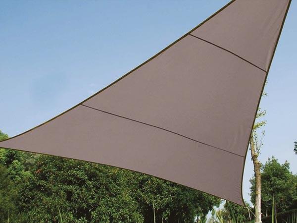 Zonnezeil driehoek 5 m 5 m 5 m taupe