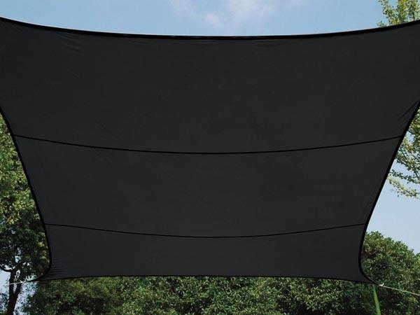 Zonnezeil vierkant 36 36 m antraciet