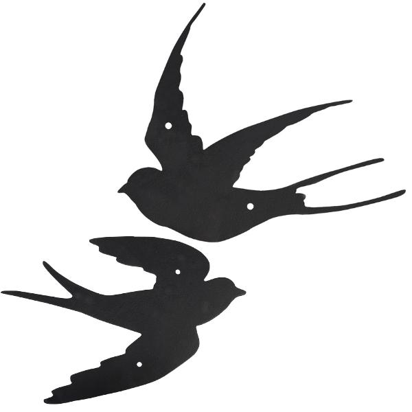 Muurdecoratie zwaluwen